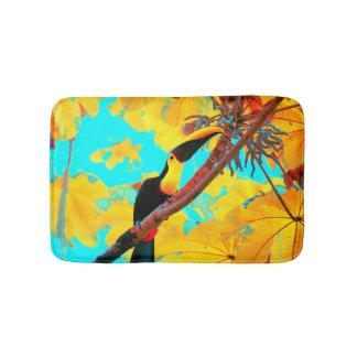 Tropical Toucan Bird Bath Mat