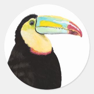Tropical Toucan Bird Classic Round Sticker