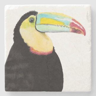 Tropical Toucan Bird Stone Coaster