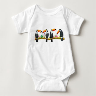 Tropical Toucan Birds Baby One Piece Baby Bodysuit