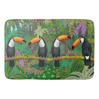 Tropical Toucan Birds Bath Mat