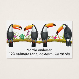 Tropical Toucan Birds Business Cards