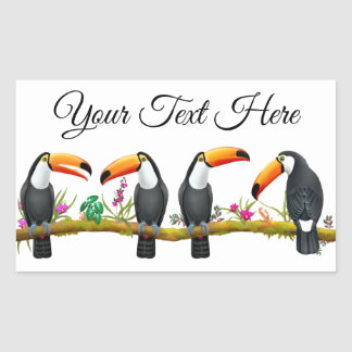 Tropical Toucan Birds Customizable Sticker
