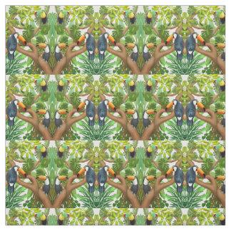 Tropical Toucan Birds Fabric