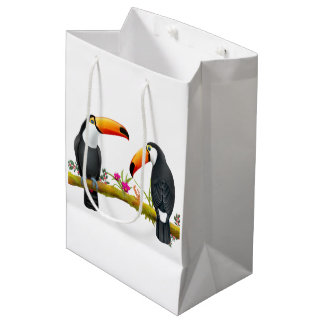 Tropical Toucan Birds Gift Bag Medium