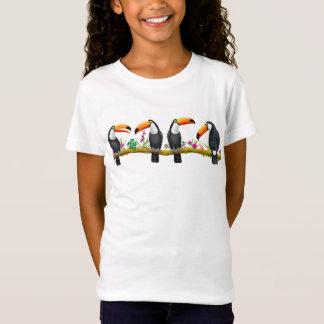 Tropical Toucan Birds Kids Jersey Knit T-Shirt