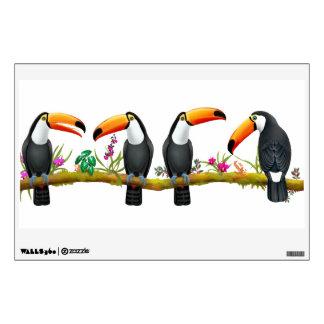 Tropical Toucan Birds Wall Decal