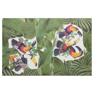 Tropical Toucan Birds Wildlife Jungle Fabric