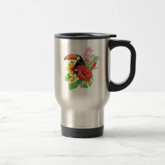 Tropical Toucan Collage Travel Mug