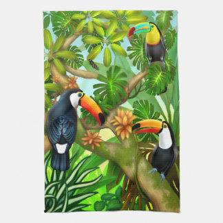 Tropical Toucan Jungle Kitchen Tea Towel