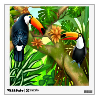 Tropical Toucan Jungle Wall Decal