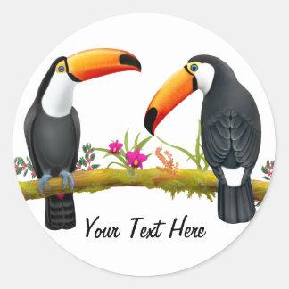 Tropical Toucans Custom Sticker