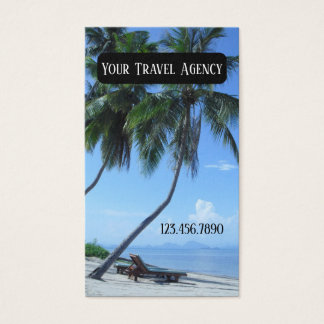 Tropical Travel Agency Business Card