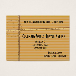 Tropical Travel Agency Business Cards
