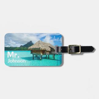 Tropical travel luggage tag
