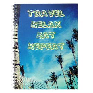 Tropical Travel View Spiral Notebooks
