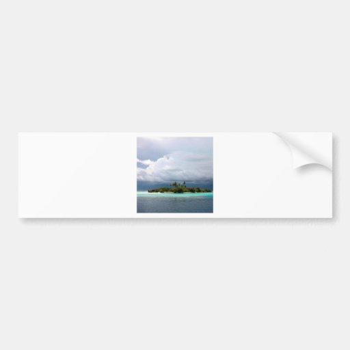 Tropical Treasure Cove Island Bumper Sticker