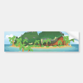 Tropical Treasure Island Bumper Sticker