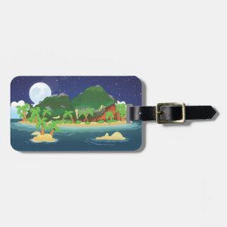 Tropical Treasure Island Luggage Tag