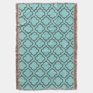 Tropical Turquoise Bedroom Throw Blanket