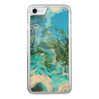 Tropical Turquoise Ocean Blue Carved iPhone 8/7 Case