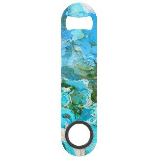 Tropical Turquoise Ocean Blue & Seaweed Green Speed Bottle Opener