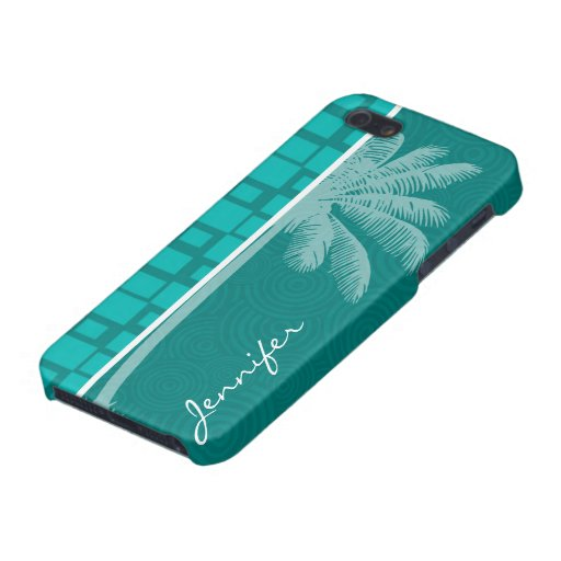 Tropical Turquoise Squares iPhone 5 Cover