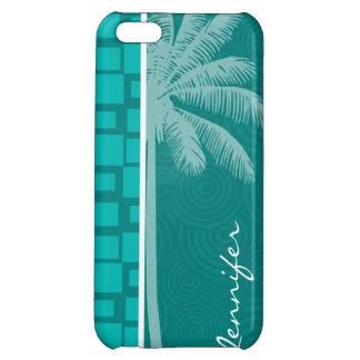 Tropical Turquoise Squares iPhone 5C Cases