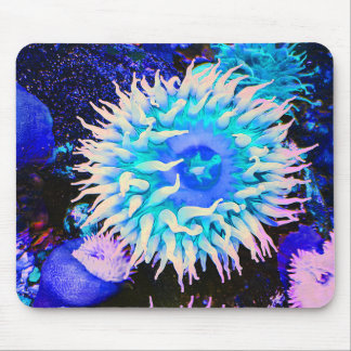 Tropical Undersea Anemone Plant Mouse Pad