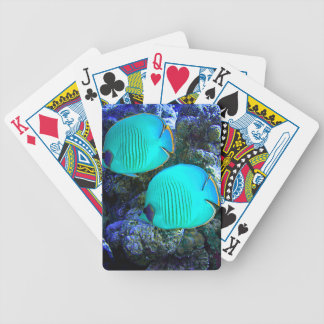 Tropical Undersea Fish Swimming In Coral Bicycle Playing Cards