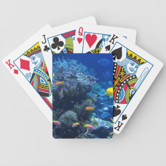 Tropical underwater fish bicycle playing cards