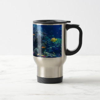 Tropical underwater fish travel mug