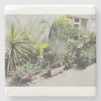 Tropical Urban Garden Stone Coaster