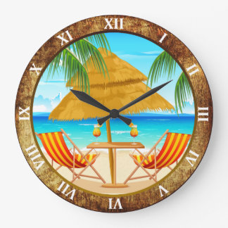 Tropical Vacation Custom Wall Clock
