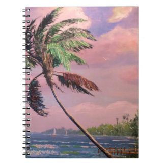 Tropical Vacation Palm Tree Spiral Notebook