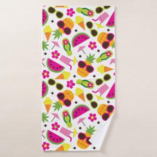 Tropical Vacation Seamless Pattern Bath Towel