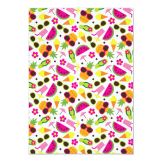 Tropical Vacation Seamless Pattern Card
