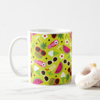 Tropical Vacation Seamless Pattern Coffee Mug