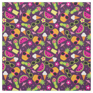 Tropical Vacation Seamless Pattern Fabric