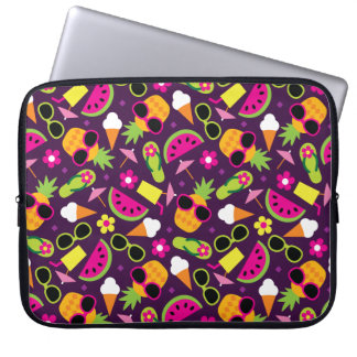 Tropical Vacation Seamless Pattern Laptop Sleeve