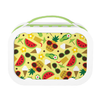 Tropical Vacation Seamless Pattern Lunch Box