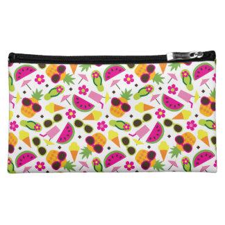 Tropical Vacation Seamless Pattern Makeup Bag