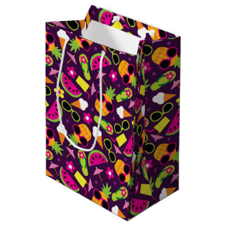 Tropical Vacation Seamless Pattern Medium Gift Bag