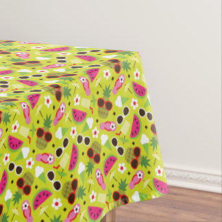 Tropical Vacation Seamless Pattern Tablecloth