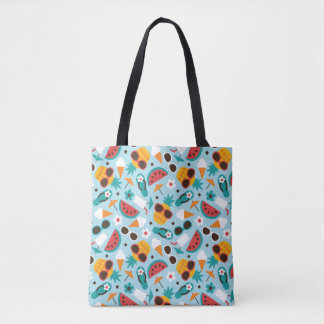 Tropical Vacation Seamless Pattern Tote Bag