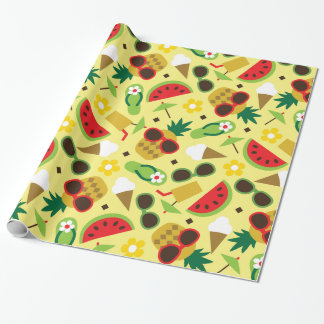 Tropical Vacation Seamless Pattern Wrapping Paper