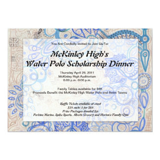 """Tropical Vibe Fundraiser Business Luncheon - 5"""" X 7"""" Invitation Card"""
