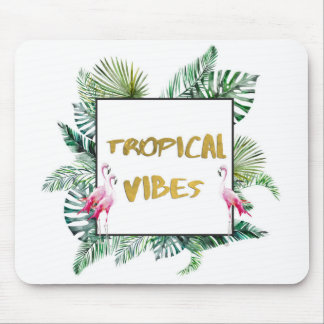 Tropical vibes mouse pad