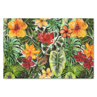 Tropical Vintage Exotic Jungle Flower Flowers Tissue Paper
