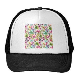 Tropical Vintage Floral Pattern Trucker Hat